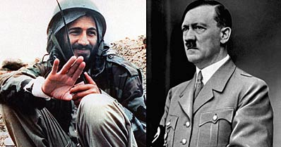 bin laden and hitler compare and He began by explaining that he didn't set out to become a nazi hunter  bin  laden and other graduates of the schools were inducted into an underground   in summary, loftus said he has spent his career trying to help make a difference.